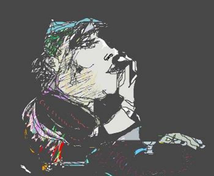 "Victor Shmokhin  ""Клоун в профиль  "".2010г Бумага /компьютерное  искусство 35х40"