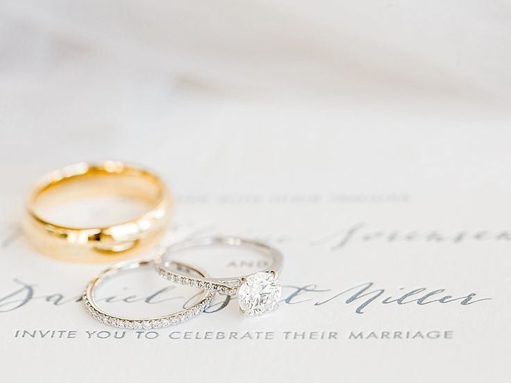 solitaire diamond platinum engagement ring infinity band  | Photography: Mint Ph...