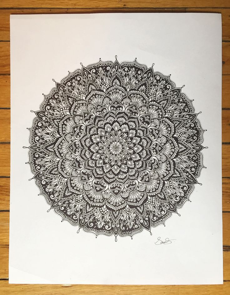 Handrawn mandala drawing by @samschroederart | INSTAGRAM: samschroeds
