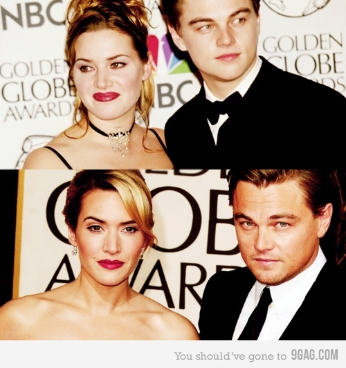 """""""We do look very different, we're older. Leo's 37, I'm 36 – we were 21 and 22 when we made that film. You know, he's fatter now – I'm thinner.""""    -Kate Winslet on Leo DiCaprio 11 years later. #jackandroseforever"""