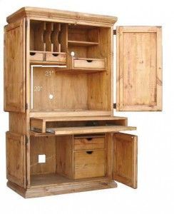 Computer Armoire | Rustic Furniture | Western Furniture