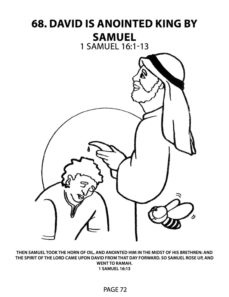 Pin by missy cox on free homeschooling pinterest for David becomes king coloring page