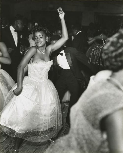 Dancers at the Bon Temps Carnival Ball, New Orleans, 1953.