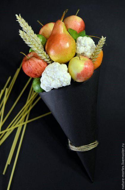 Букеты ручной работы. Букет из овощей и фруктов - Плотские желания (desideria carnis). Витамины на борту. Интернет-магазин Ярмарка Мастеров.