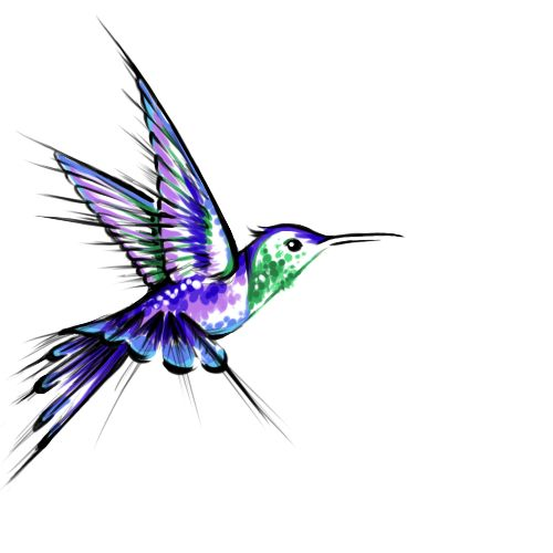 Humming Bird Tattoo Design by manticurls.deviantart.com on @deviantART