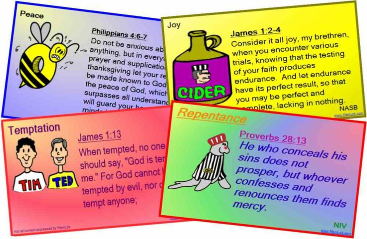 CLICK MEMLOK.COM Bible memory Philippians 4:6,7; James 1:2-4, James 1:13, Proverbs 28:13 Four of thousands of scripture memory verses at MemLok.com Get them all only $29.95  #MemLok.com #biblememory #scripturememory: Memories Cards
