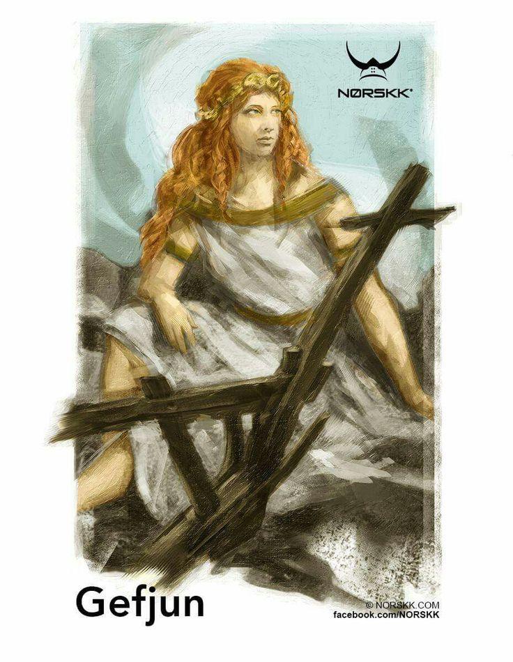 PANTEÃO NÓRDICO - GEFJUN - Deusa da Fertilidade, dos Arados, recebe as Virgens mortas.