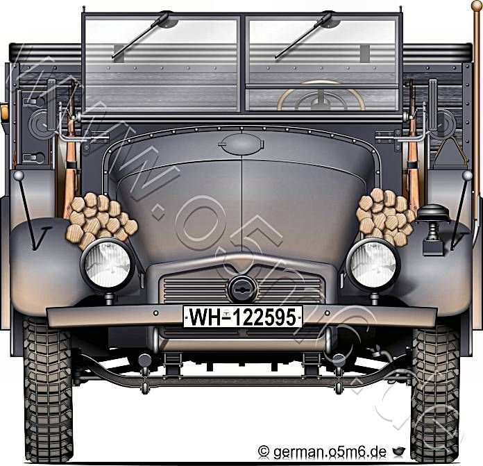 """Engines of the Wehrmacht - """"Krupp Protze"""", 2-ton, 6x4, Cargo Truck"""