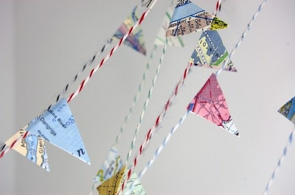 also DIY: map garland for bon voyage party or other travel-themed events