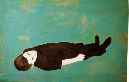 Djamel Tatah, Sans titre 1992 (92009) Huile sur toile et bois ; 130 x 199 cm
