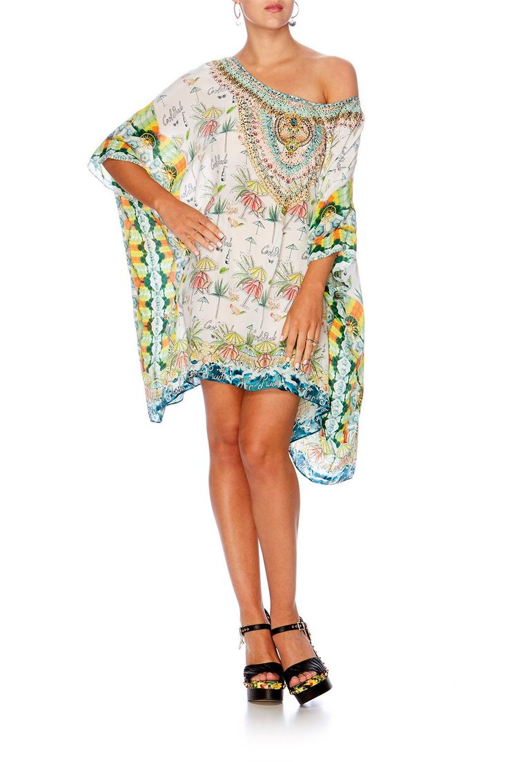 Camilla - Sundowners Short Round Neck Kaftan