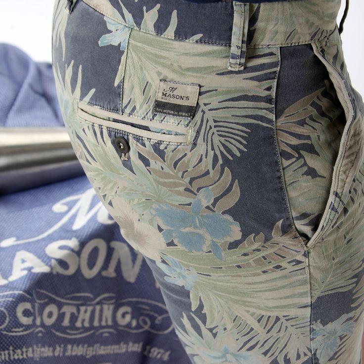 Pantalone bermuda modello Washington con stampa floreale. - Masons