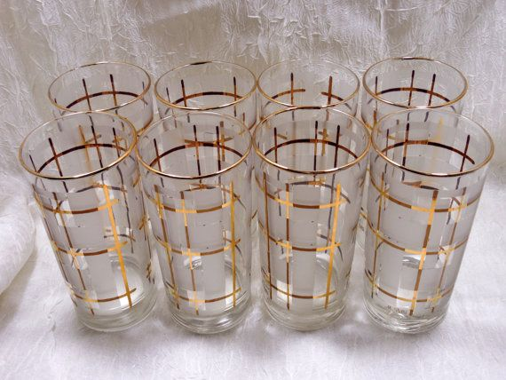 Mid Century M Petti Drinking Glasses M Petti Barware 1950s 1960s Barware Vintage
