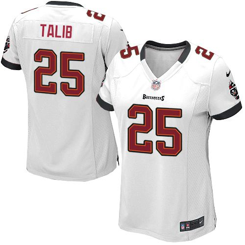 Women Nike Tampa Bay Buccaneers #25 Aqib Talib Elite White NFL Jersey Sale