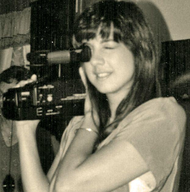 Nancy behind the camera