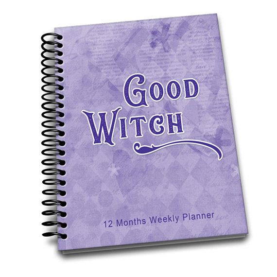Good Witch | Perpetual Weekly Planner | 2 pages a week | Passwords | Contacts | Notes | Annual Goals