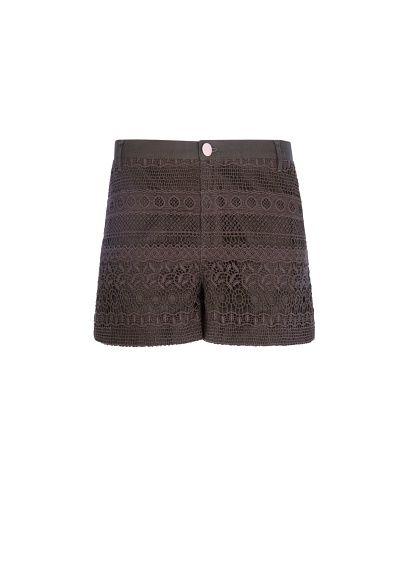 MANGO - Guipure cotton shorts