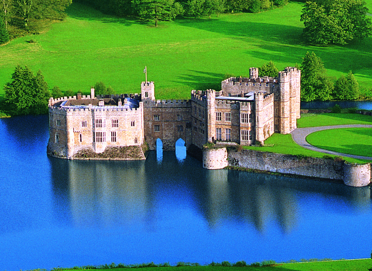 Leeds Castle in Kent. Just a 45 minute train journey from London.