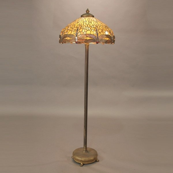 1000 images about tiffany studios floor lamps on pinterest for 1908 studios tiffany blue dragonfly floor lamp