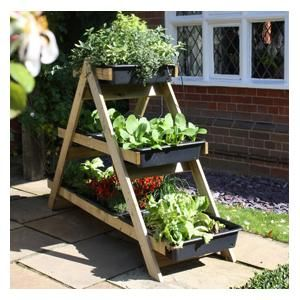 The Clever, Triple Layered Timber Frame Of The Maxi A Frame Garden Planter,