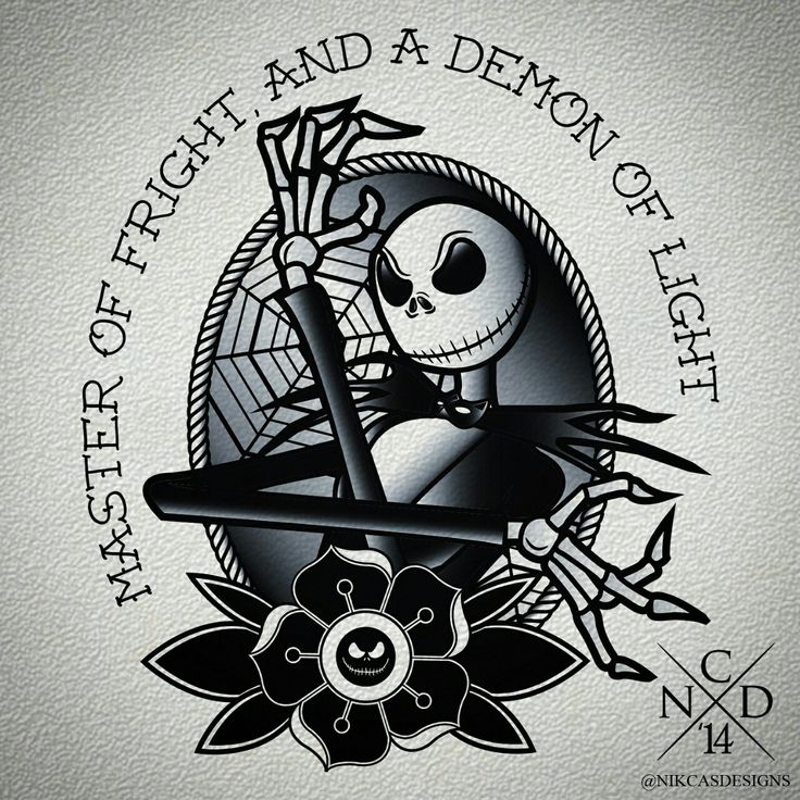 Jack Skellington Tattoo Design