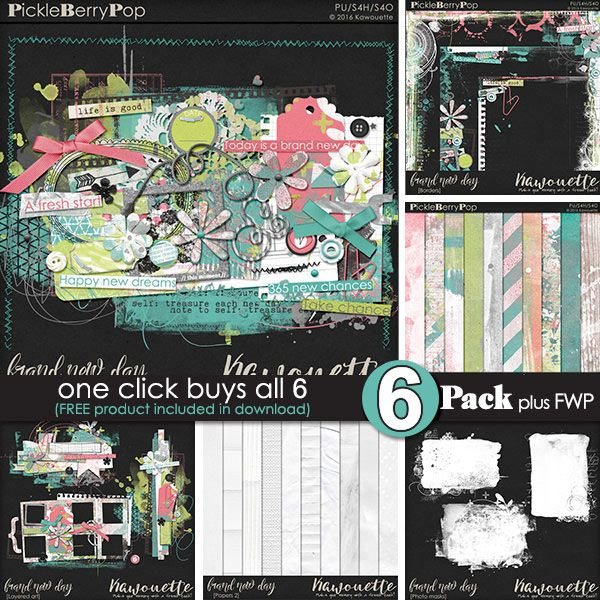 """kit BRAND NEW DAY by Kawouette   Shop : <a href=""""https://www.pickleberrypop.com/shop/manufacturers.php?manufacturerid=172"""" rel=""""nofollow"""">www.pickleberrypop.com/shop/manufacturers.php?manufacture...</a>  Blog : <a href=""""http://toutunscrap.blogspot.fr/"""" rel=""""nofollow"""">toutunscrap.blogspot.fr/</a>"""