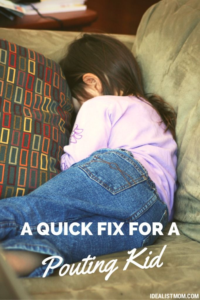 Does your kid run off and pout every time they don't get their way? Here's a quick fix to end the pouting and get your happy kid back ASAP!