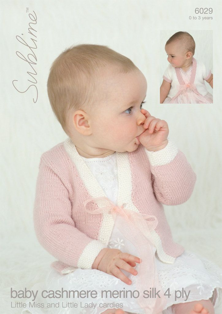 68ac6bfa369b Little Miss and Little Lady Cardigans in Sublime Baby Cashmere ...