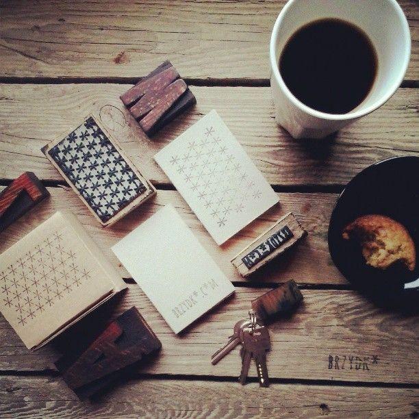 #letterpress #keychain #typography #typo #accessories #type #brzydko #vintage #wood #retro #coffee #branding #stamp #kawa