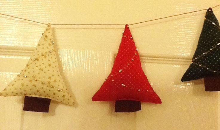 Christmas tree bunting xx