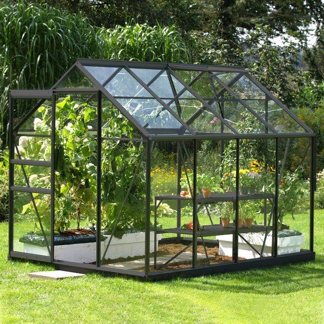 Serre De Jardin En Verre Trempe 3 Mm Lams Allium Venus 5000 Anthracite 5 M Leroy Merlin En 2020 Serre Jardin Jardins Terrasse Jardin