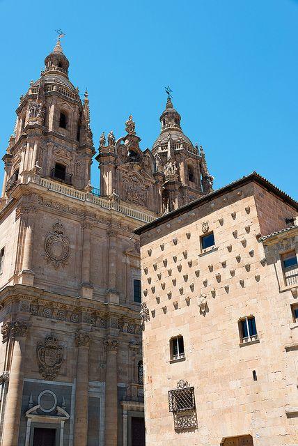 Casa de las Conchas in the city of Salamanca, Spain