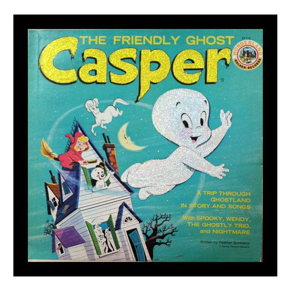 Glittered Vintage Casper the Friendly Ghost Album Art