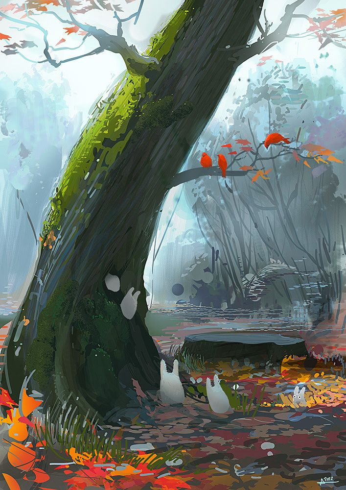 Autumn leaves by ~ani-r on deviantART. http://ani-r.deviantart.com/art/Autumn-leaves-331876185#