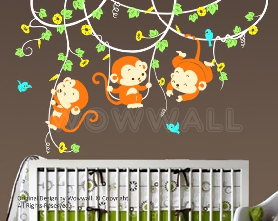 Love this wall sticker for our little monkey, and love how you can customize the color.