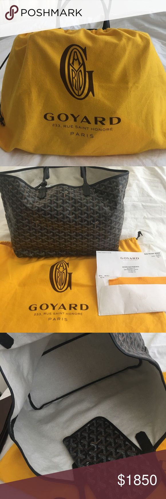 💯Authentic Goyard St Louis PM Cabas  reversible. This is a 💯💯💯💯💯Authentic Goyard. Originally purchased in San Francisco when they have the Goyard boutique. I bough this but honestly did not use at all. No scratches, no marks and again, BRAND new. See photos of authenticity. Prices is going up on Goyard because it's hard to find. I have another Goyard but used. This one, not  all. FOR TRADE Goyard Bags Totes