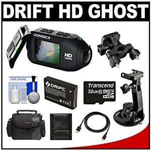 Drift Innovation HD Ghost Wi-Fi Waterproof Digital Video Action Camera Camcorder with 32GB Card + Battery + Suction Cup & Handlebar Mount + Case + Accessory Kit - http://electmecameras.com/camera-photo-video/camcorders/drift-innovation-hd-ghost-wifi-waterproof-digital-video-action-camera-camcorder-with-32gb-card-battery-suction-cup-handlebar-mount-case-accessory-kit-com/