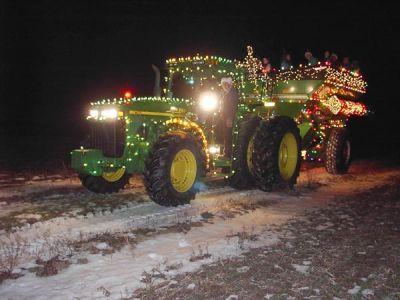 Christmas Lights On Tractors Photos