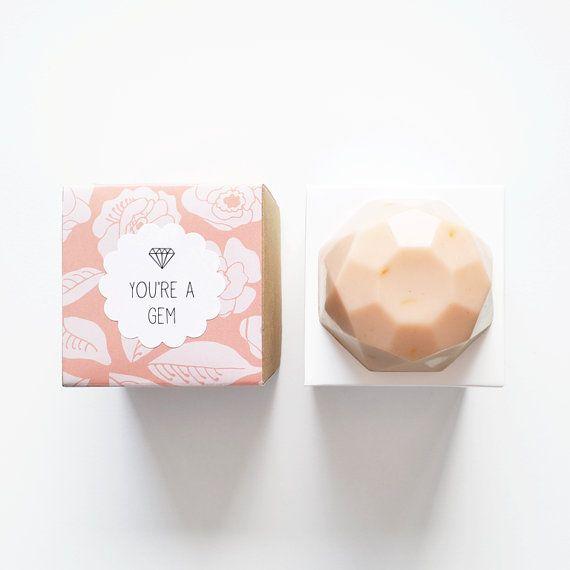 Siren Jewel Soap (VELVET) Rose Geranium, Ylang Ylang, Litsea, Orange, Patchouli - You're A Gem on Etsy, $10.35