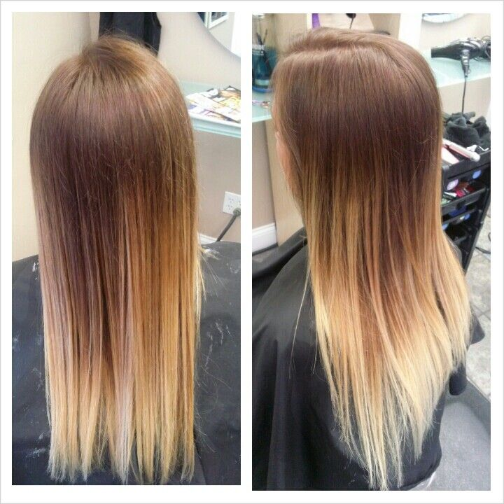Redbrown to blonde ombre hair pinterest ombre - Blond braun ombre ...