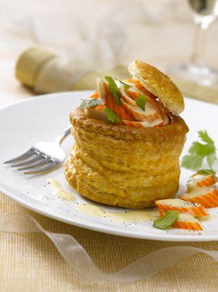 Vols au vent au surimi et crème légère au citron vert : la recette facile