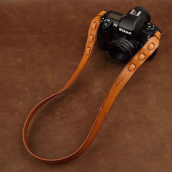 Genuine Leather Camera Strap  Canon Camera by camerasbagstraps, $39.99