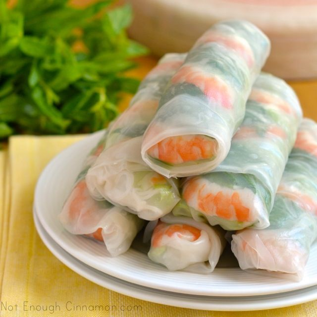 I love these SO MUCH!!!  Great for a light summer meal and they are SUPER tasty.  You can also add/subtract/substitute any of the ingredients!!  How to make Spring Rolls - Step by Step Recipe