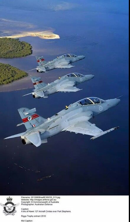 ♥ RAAF Hawk 127 Lead In Fighter Trainers.