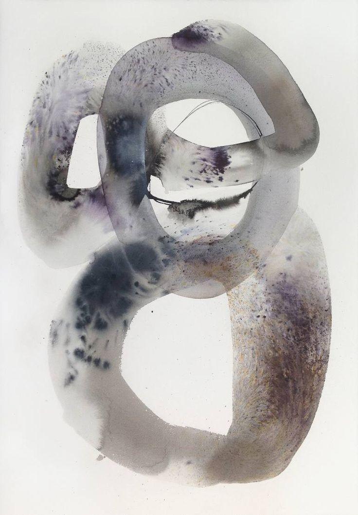 "Saatchi Art Artist Sabrina Garrasi; Painting, ""Meditation / Original Abstract Watercolor - Zen Art"" #art"
