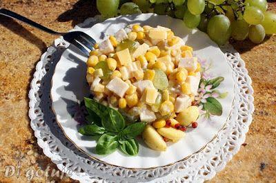 Di gotuje: Sałatka z winogronem i czosnkiem marynowanym w ole...
