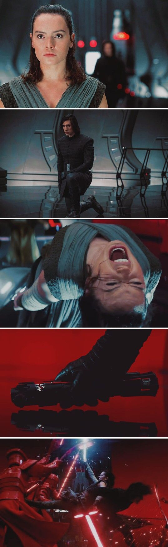 Ben: *has been tortured by Snoke since he was a fetus*  Snoke: *tortures Rey for approximately two minutes*  Ben: *immediately cuts him in half*