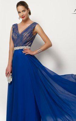 Beaded Lace Long Gown by Alyce Jean De Lys 27172