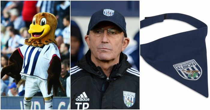 Football365 - A demented-looking chicken, Tony Pulis, Adrian Chiles and a dog bandana. West Brom are weird...
