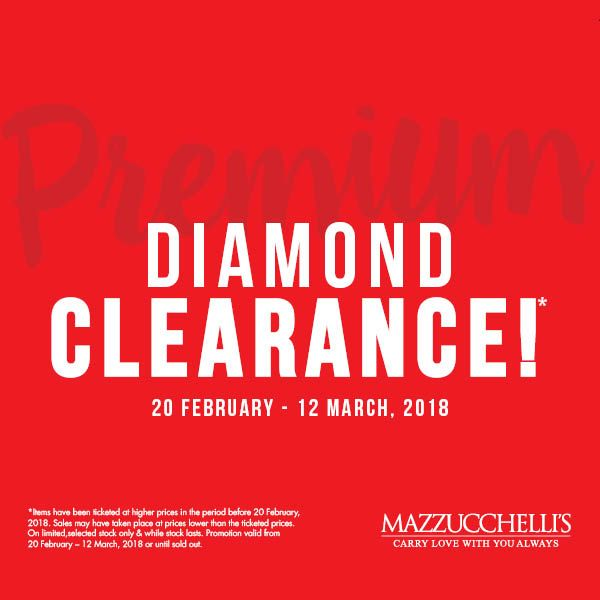 Our Premium Diamond Clearance is on NOW! Don't miss out, visit us in-store today for great deals on gorgeous Diamond pieces. #mazzucchellis #jeweller #jewellery #mazzucchellisjeweller #clearance #premium #diamond #diamonds #diamondjewellery #diamondpieces #luxury #style #accessories #fashion #womensjewellery #diamondrings #diamondnecklaces #diamondearrings #diamondbracelets #diamondpendants